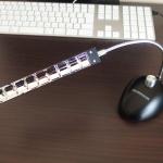 グリーンハウス USB接続 8LEDスタンドライト GH-LED08STK レビュー