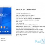 """Xperia Z4 Tablet Ultra""のスペックがリーク"